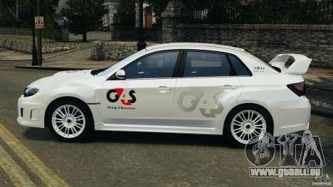 Subaru Impreza WRX STi 2011 G4S Estonia pour GTA 4 est un droit