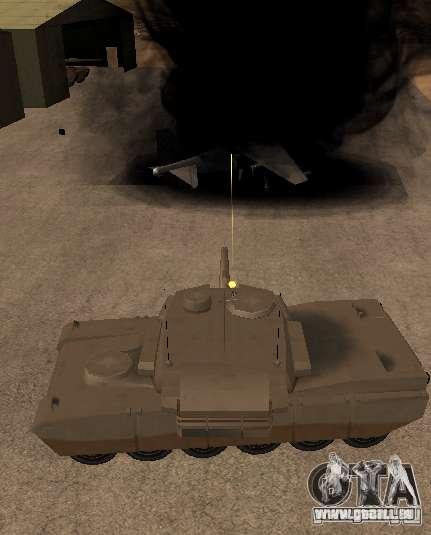 Die Minigun auf dem tank für GTA San Andreas dritten Screenshot