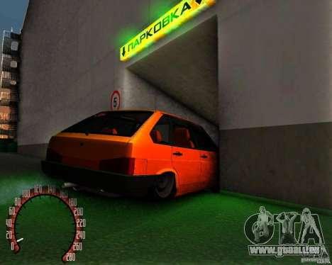 VAZ 2109 für GTA San Andreas zurück linke Ansicht