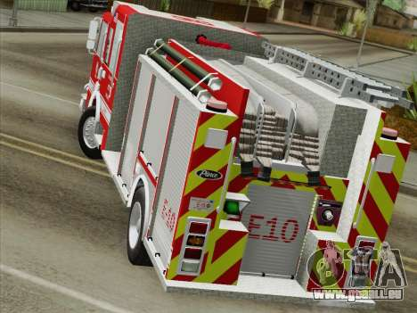 Pierce Saber LAFD Engine 10 für GTA San Andreas Innenansicht