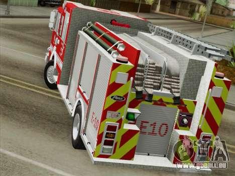Pierce Saber LAFD Engine 10 pour GTA San Andreas vue intérieure