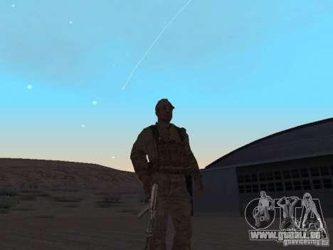 Une soldat soviétique de la peau pour GTA San Andreas deuxième écran