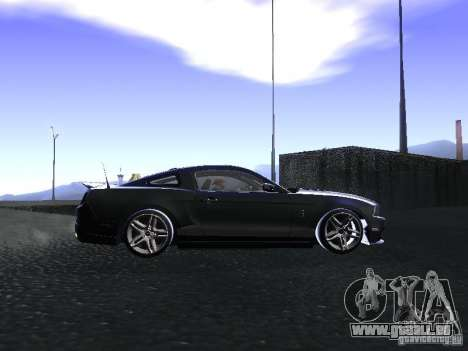 Ford Mustang Shelby GT500 pour GTA San Andreas vue intérieure
