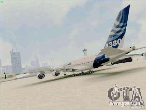 Airbus A380-800 für GTA San Andreas linke Ansicht