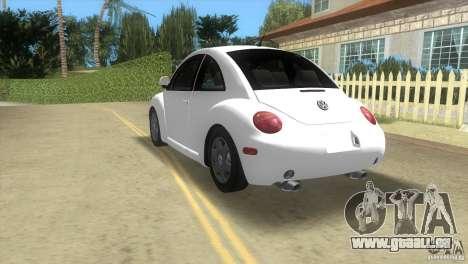 VW New Beetle pour GTA Vice City vue arrière