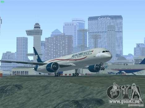 Boeing 787-8 Dreamliner AeroMexico pour GTA San Andreas vue de dessous