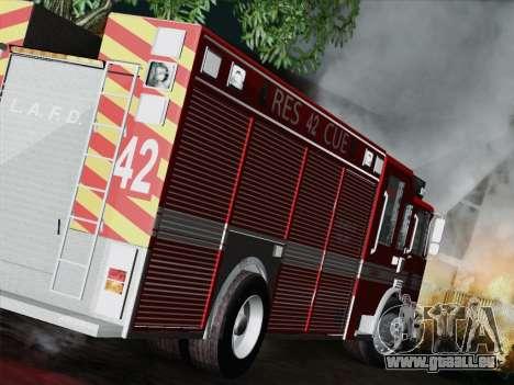 Pierce Contender LAFD Rescue 42 für GTA San Andreas rechten Ansicht