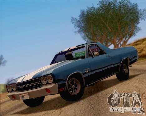 Chevrolet EL Camino SS 70 pour GTA San Andreas vue arrière