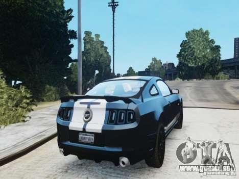 Ford Mustang GT 2013 für GTA 4 hinten links Ansicht