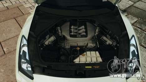Nissan GT-R 2012 Black Edition pour GTA 4 vue de dessus