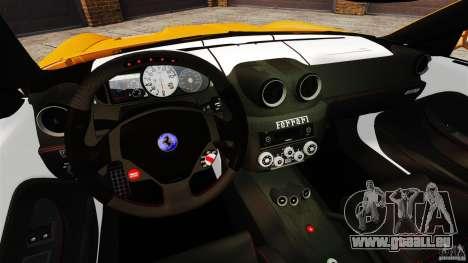Ferrari 599 GTO 2011 pour GTA 4 Vue arrière