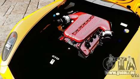 Ferrari 599 GTO 2011 pour GTA 4 est une vue de l'intérieur