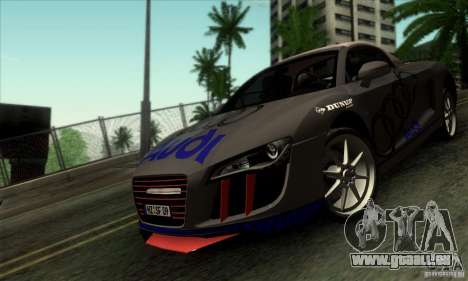 Audi R8 Spyder Tunable pour GTA San Andreas vue intérieure