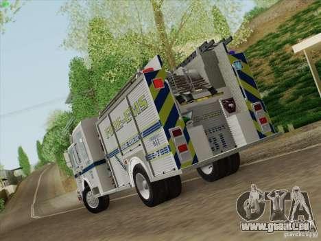 Pierce Pumpers. B.C.F.D. FIRE-EMS für GTA San Andreas rechten Ansicht
