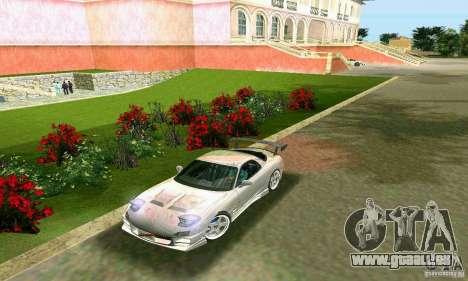 Mazda RX7 tuning pour GTA Vice City sur la vue arrière gauche