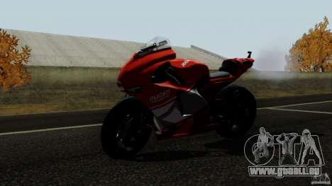 Ducati Desmosedici RR für GTA San Andreas zurück linke Ansicht