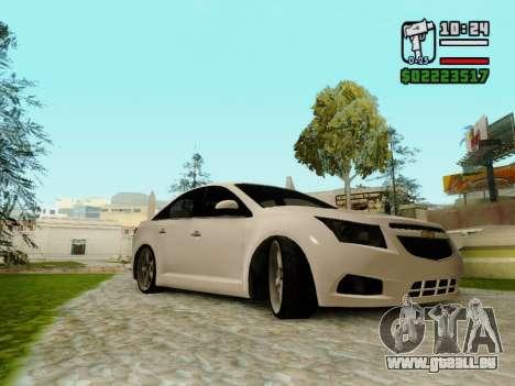 Chevrolet Cruze pour GTA San Andreas sur la vue arrière gauche