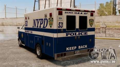 Neue van-Polizei für GTA 4 hinten links Ansicht