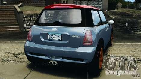 Mini Cooper S v1.3 pour GTA 4 Vue arrière de la gauche