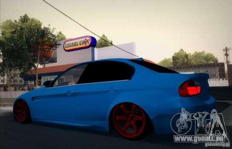 BMW M3 E90 pour GTA San Andreas vue de dessus
