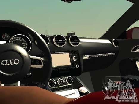 Audi TT-RS Coupe 2011 v.2.0 pour GTA San Andreas vue intérieure