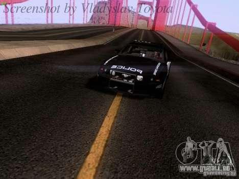 Ford Mustang GT 2011 Police Enforcement pour GTA San Andreas vue de droite