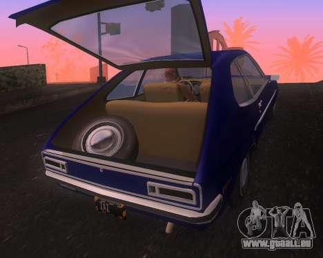 Ford Pinto 1973 Final pour GTA San Andreas vue de droite