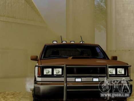 Yosemite Custom pour GTA San Andreas vue arrière