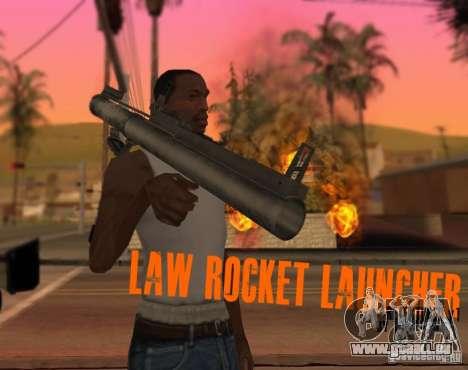 LAW Rocket Launcher Retextured pour GTA San Andreas deuxième écran