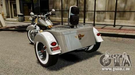 Harley-Davidson Trike pour GTA 4 Vue arrière de la gauche