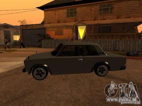 VAZ 2107 coupé pour GTA San Andreas laissé vue