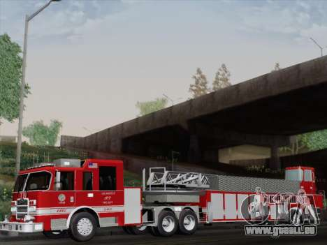Pierce Arrow XT LAFD Tiller Ladder Truck 10 für GTA San Andreas Rückansicht