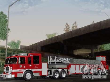 Pierce Arrow XT LAFD Tiller Ladder Truck 10 für GTA San Andreas Rückansicht