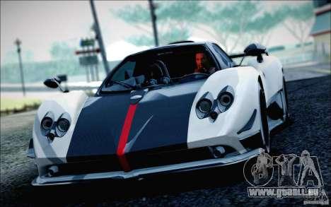 Pagani Zonda Cinque Roadster 2009 für GTA San Andreas zurück linke Ansicht
