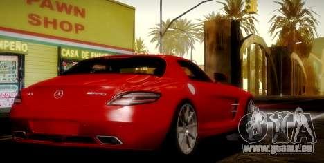 Mercedes-Benz SLS AMG 2010 pour GTA San Andreas vue de dessus