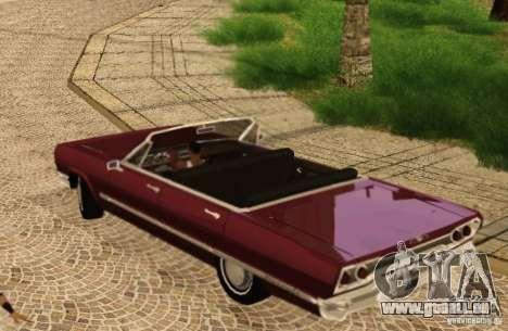 Savanna Detroit 1965 pour GTA San Andreas vue arrière
