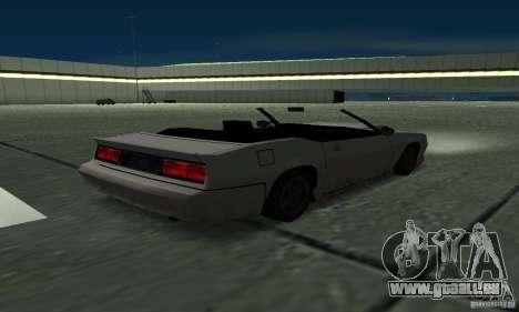 Buffalo Cabrio für GTA San Andreas zurück linke Ansicht