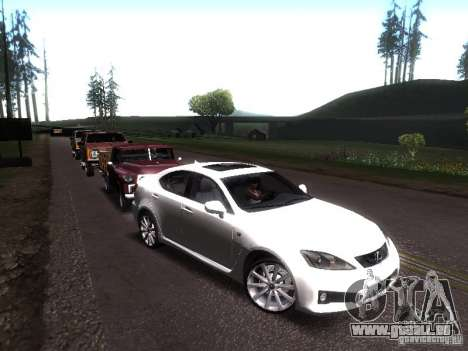 Lexus IS F pour GTA San Andreas