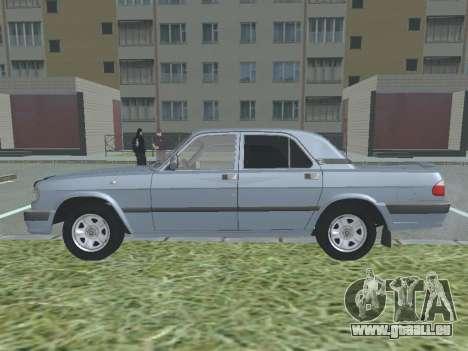GAZ 3110 Wolga für GTA San Andreas linke Ansicht