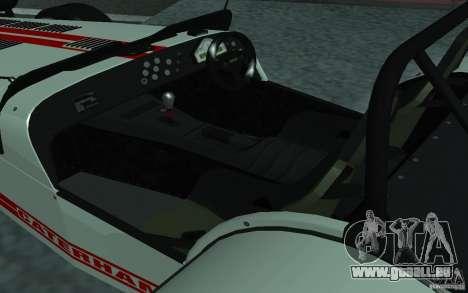 Caterham R500 pour GTA San Andreas vue de droite