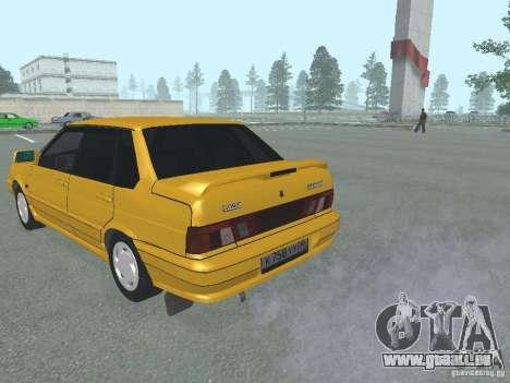 VAZ 2115 pour GTA San Andreas sur la vue arrière gauche