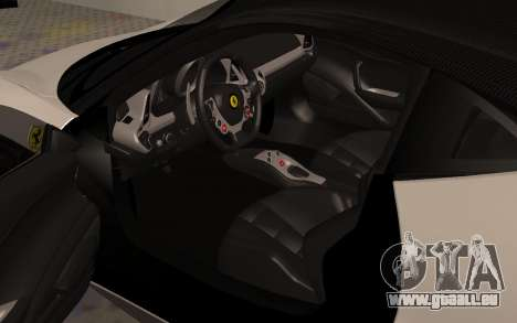 Ferrari 458 Italia für GTA San Andreas Rückansicht