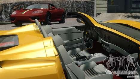 Ferrari 360 Spider 2000 pour GTA 4 Vue arrière de la gauche