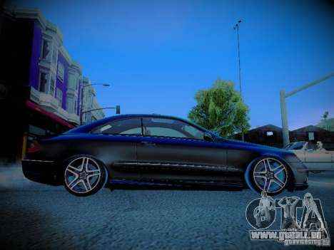 Mercedes-Benz CLK 55 AMG Coupe pour GTA San Andreas vue intérieure