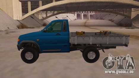 UAZ-2360 pour GTA San Andreas laissé vue