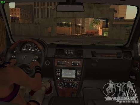 Mercedes-Benz Galendewagen G500 für GTA San Andreas rechten Ansicht