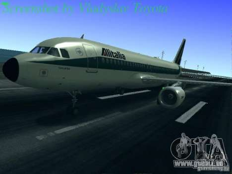Airbus A320-214 Alitalia v.1.0 pour GTA San Andreas roue