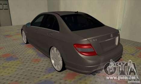 Mercedes-Benz C63 Dub für GTA San Andreas rechten Ansicht