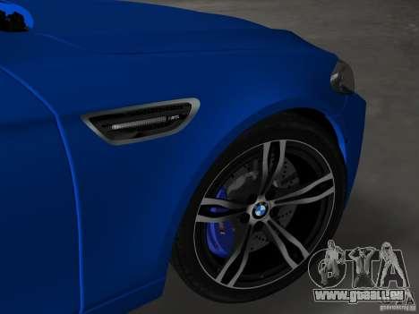 BMW M5 F10 2012 pour une vue GTA Vice City d'en haut