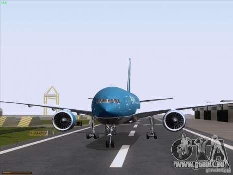 Boeing 777-2Q8ER Vietnam Airlines pour GTA San Andreas vue arrière